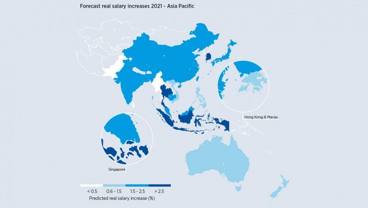 Staff in Singapore expected to get one of the highest salary increases in APAC in 2021